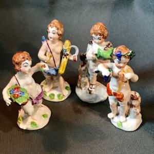 Set of Four 19th Century Naples Figures