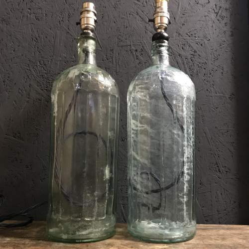 Pair of Victorian Poison Bottle Lamps image-2