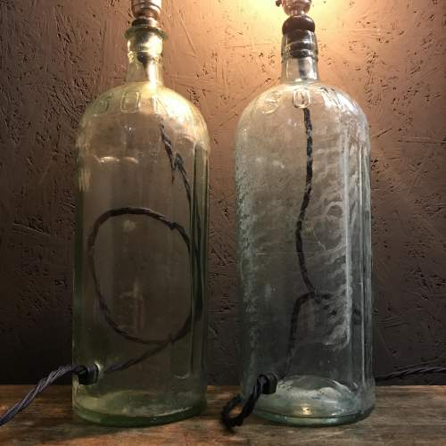 Pair of Victorian Poison Bottle Lamps image-5