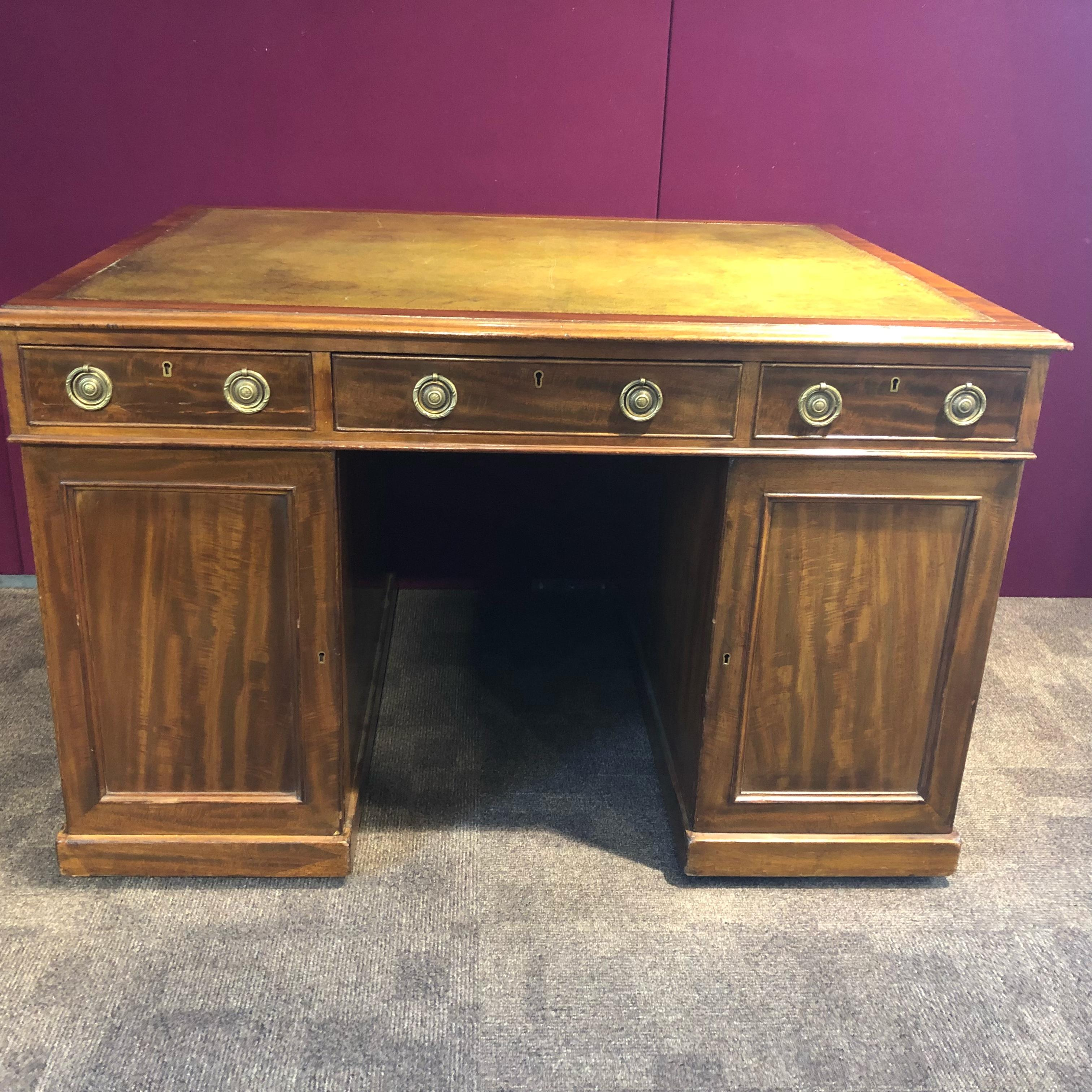 Good Quality Victorian Small Partners Desk
