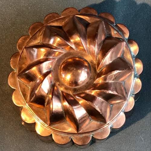 Antique Copper Aspic Jelly Mould image-2