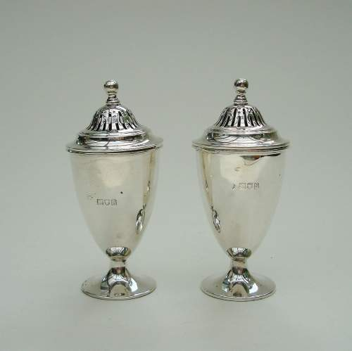English Silver Cruet Set image-1