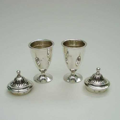 English Silver Cruet Set image-3