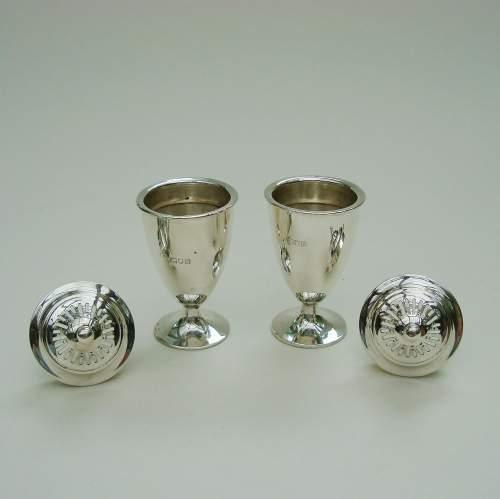 English Silver Cruet Set image-4