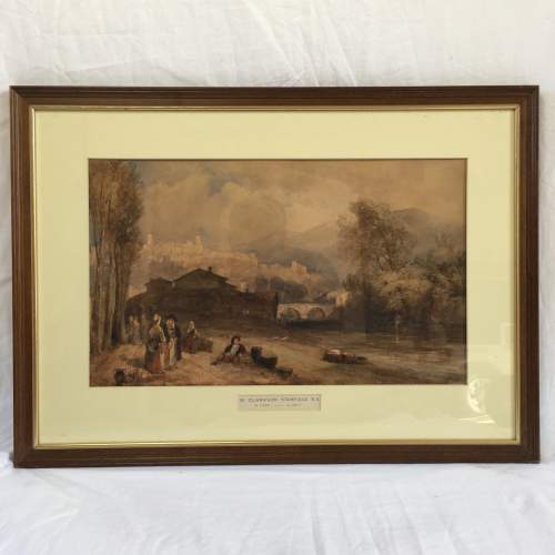 Framed Watercolour Landscape by William Clarkson Stanfield RA image-1