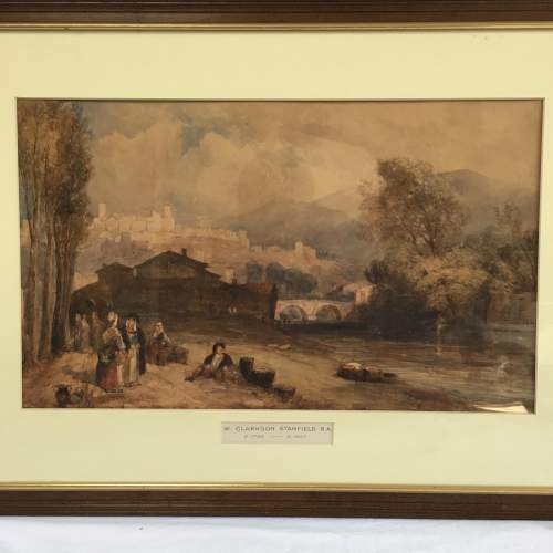 Framed Watercolour Landscape by William Clarkson Stanfield RA image-2