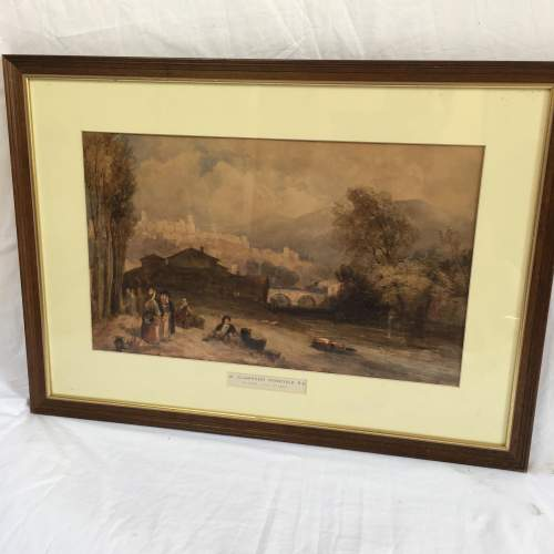 Framed Watercolour Landscape by William Clarkson Stanfield RA image-6