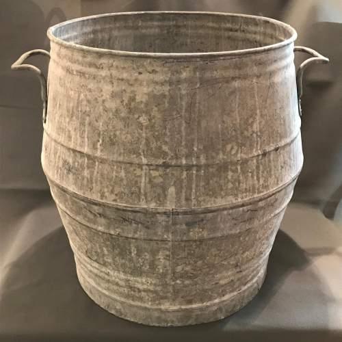 Vintage Belgian Galvanised Dolly Tub image-1