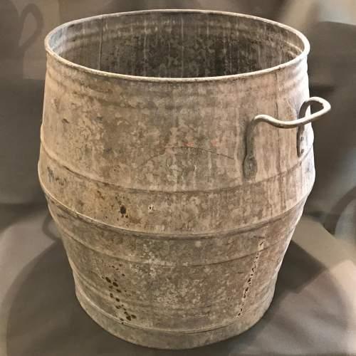 Vintage Belgian Galvanised Dolly Tub image-4