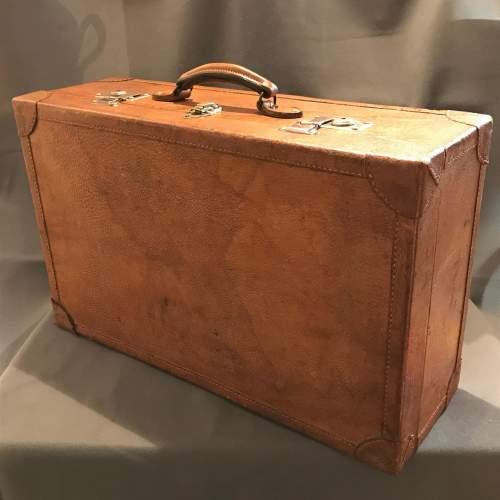 1950s Vintage Pig Skin Suitcase image-1