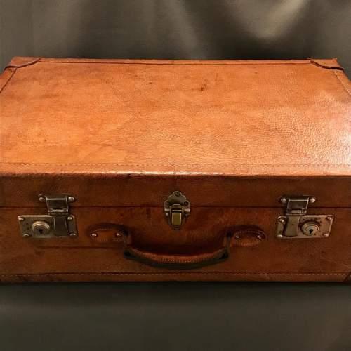 1950s Vintage Pig Skin Suitcase image-2