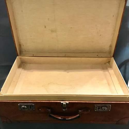 1950s Vintage Pig Skin Suitcase image-3