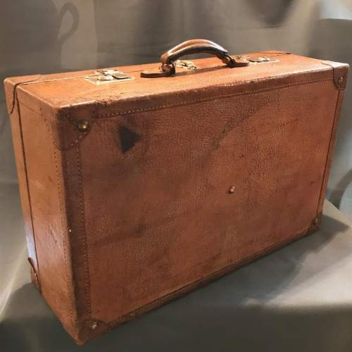 1950s Vintage Pig Skin Suitcase image-4