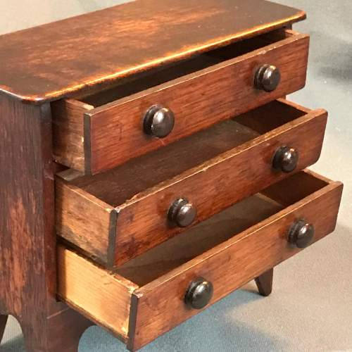 19th Century Miniature Chest Of Drawers image-3