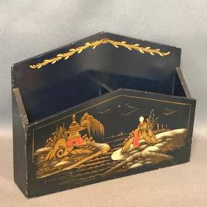 Oriental Lacquered Stationary Desk Companion