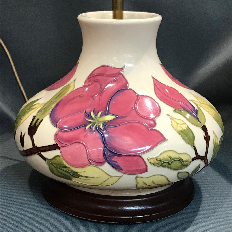 Moorcroft Pottery Large Lamp Base Antique Lighting