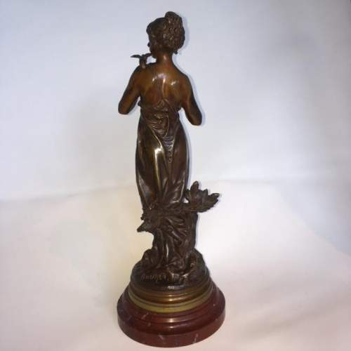 Golden Brown Library Patinated Bronze of a Nymph image-5