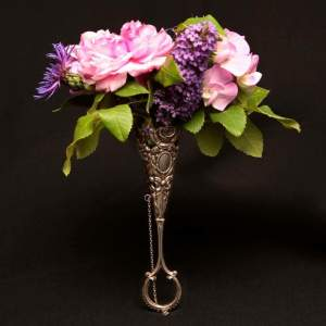 Silver Plated Posy Holder Circa 1890