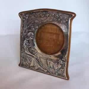 Original Silver Art Nouveau Photo Frame