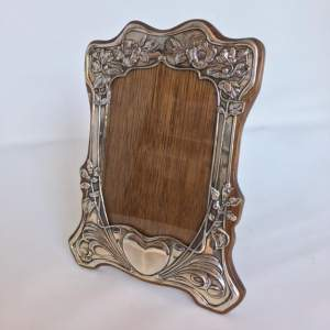 Original Silver Art Nouveau Photographic Frame by Henry Matthew