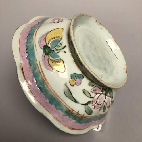 Chinese Rose Shaped Circular Bowl Circa 1890 image-2