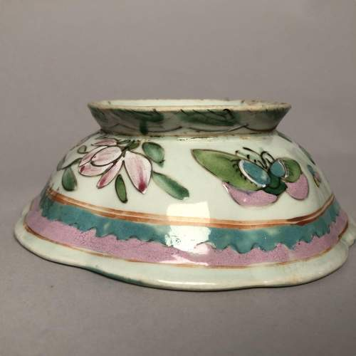 Chinese Rose Shaped Circular Bowl Circa 1890 image-4