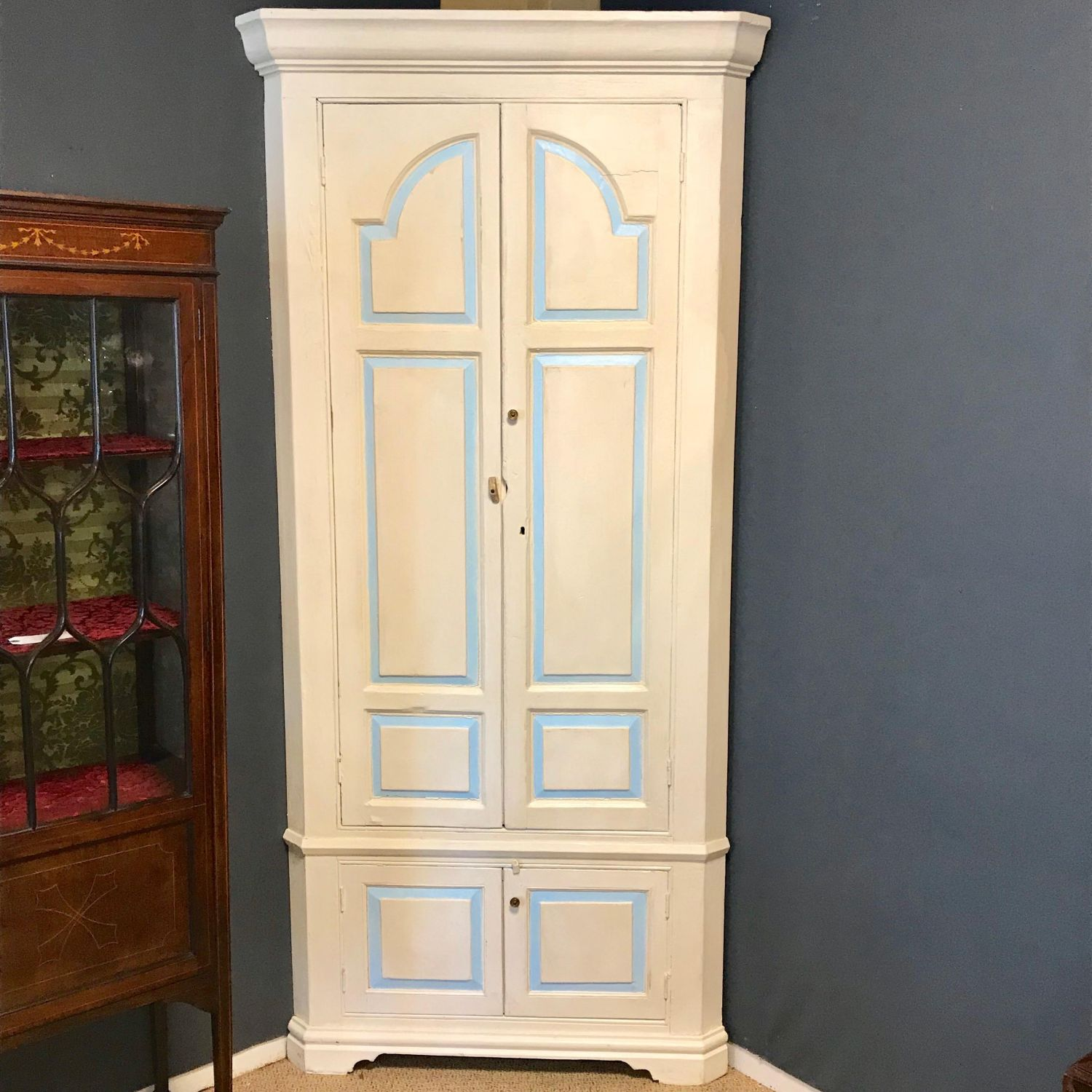 Old Painted Pine Corner Cupboard Pine Cupboards Hemswell Antique