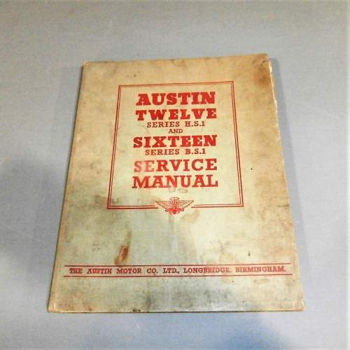 Austin Twelve Series H.S.1. and Sixteen Series B.S.1 Service Manual image-1