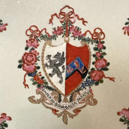 Pair of Chinese Armorial Plates image-3