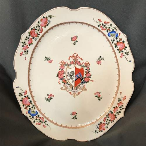 Pair of Chinese Armorial Plates image-2