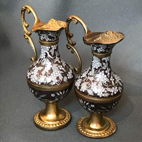 Early 19th Century Cloisonné and Gilded Bronze Ewers image-3