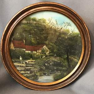 Victorian Reverse Glass Painting