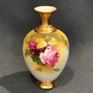 Royal Worcester Miniature Vase