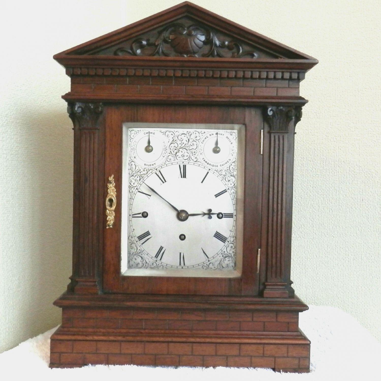 English Rosewood Bracket Clock