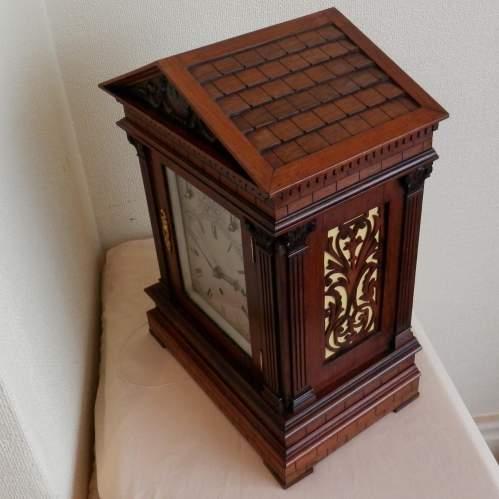 English Rosewood Bracket Clock image-4