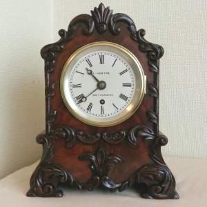 Small English Fusee Bracket Clock