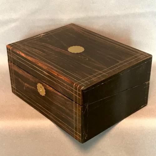 Victorian Coromandel Wood Writing Slope image-6