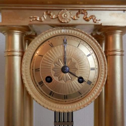 Gilt Bronze French Four Pillar Clock image-4