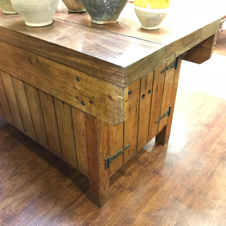 Vintage Kitchen Island Work Bench Pine Tables Hemswell