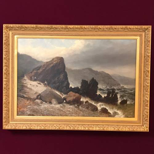 Frederick Tully Lott 19th Century Oil on Board Painting image-1