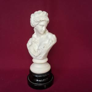 Victorian Parian Ware Bust of a Demure Young Lady