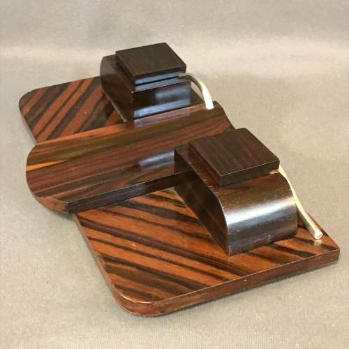 Art Deco Rosewood and Chrome Desk Stand image-4