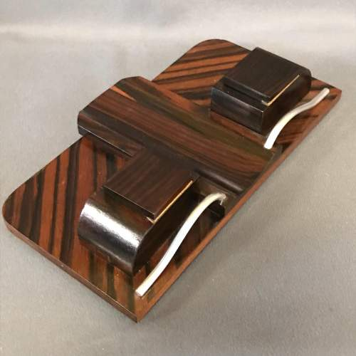 Art Deco Rosewood and Chrome Desk Stand image-3