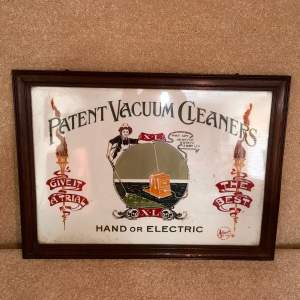 Original Advertising Panel for Patent Vacuum Cleaners