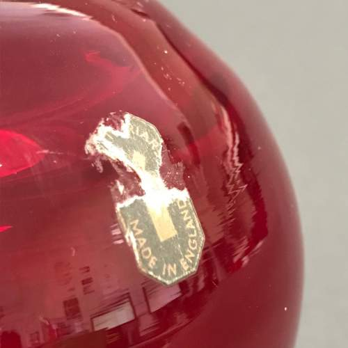 Whitefriars Ruby Red Ovoid Glass Vase image-2