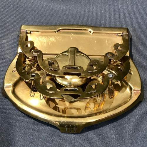 Art Nouveau German Brass Ink Stand image-4