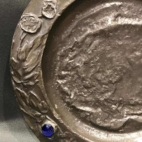 Arts and Crafts Repousse Pewter Charger image-2