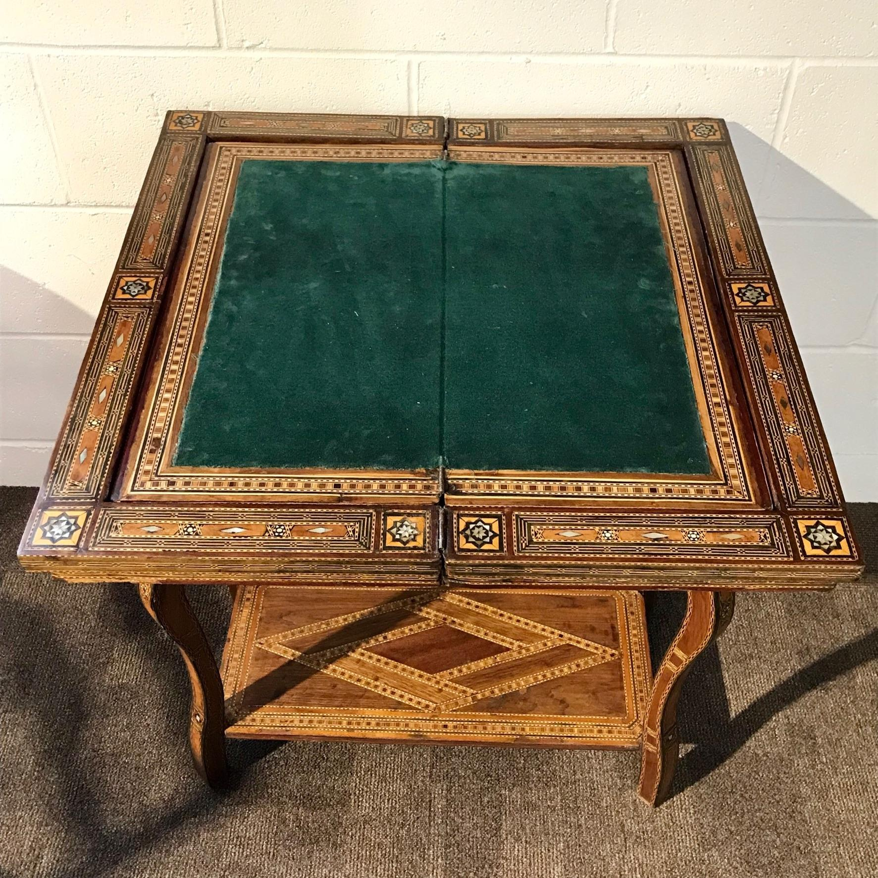 A Syrian Mother Of Pearl Bench Available To Purchase At: Antique Syrian Inlaid Games Table Circa 1900