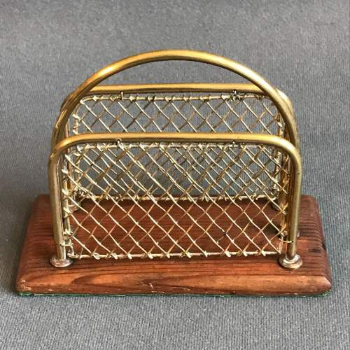 Brass and Wood Letter Rack image-2