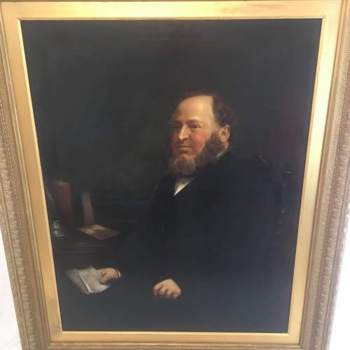 Fine 19th Century  Oil Painting Portrait of a Seated Gentleman image-1